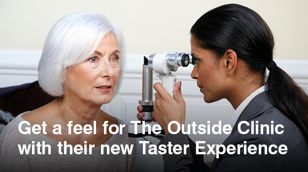 Discover what's great about domiciliary – Taster Experience now available with The Outside Clinic